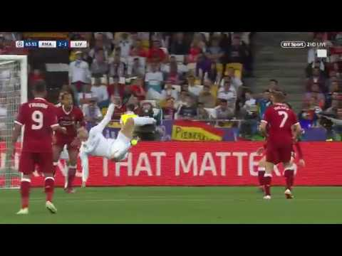 Gareth Bale scores the BEST EVER GOAL in a Champions League final with overhead kick vs Liverpool
