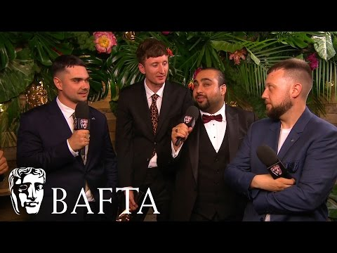 People Just Do Nothing - Backstage Interview   BAFTA TV Awards 2017