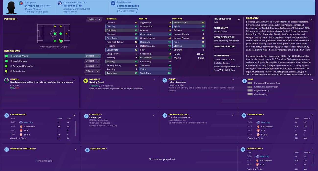 fm20 bernardo silva Football Manager 2020 Best Players