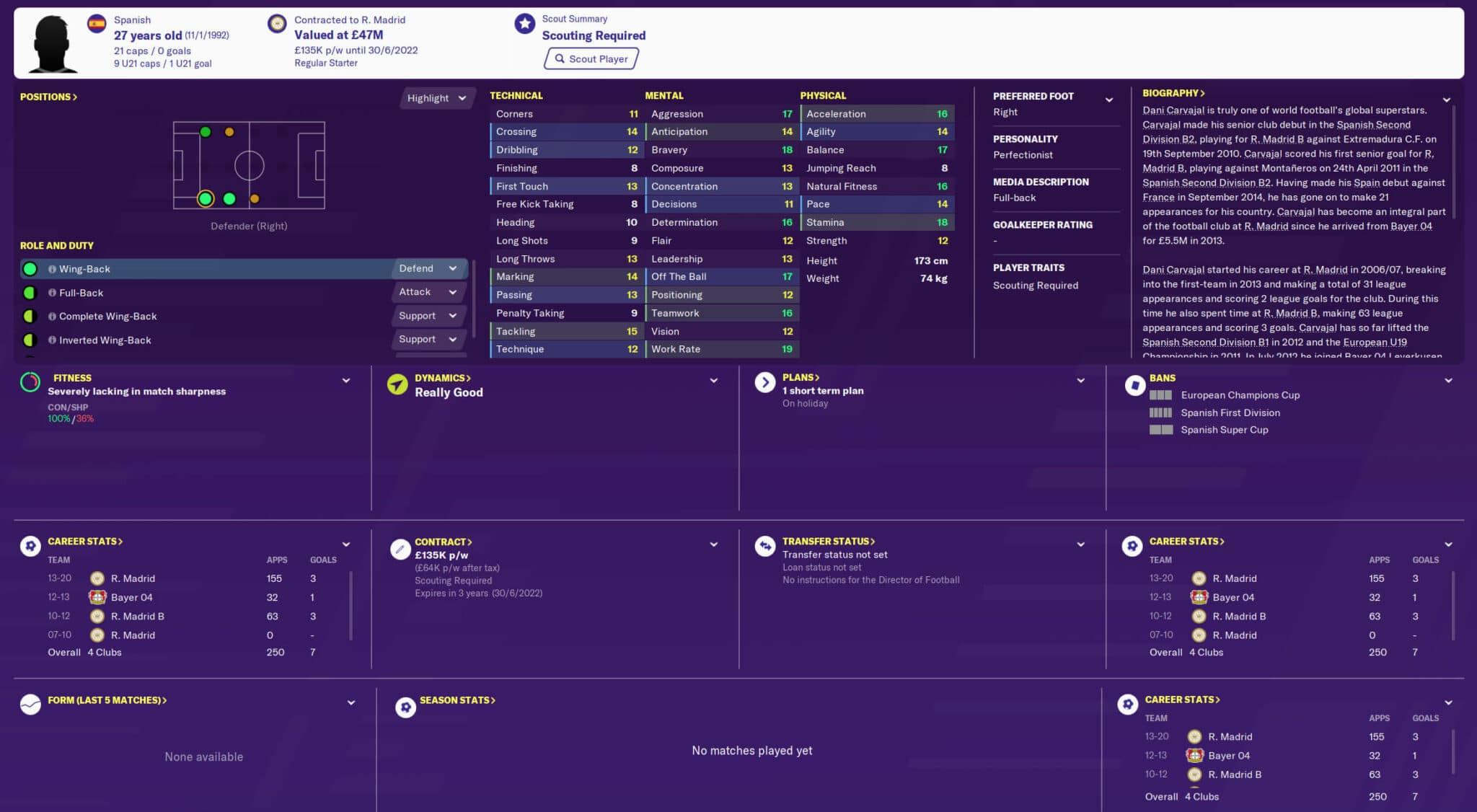 fm20 carvajal Football Manager 2020 Best Players