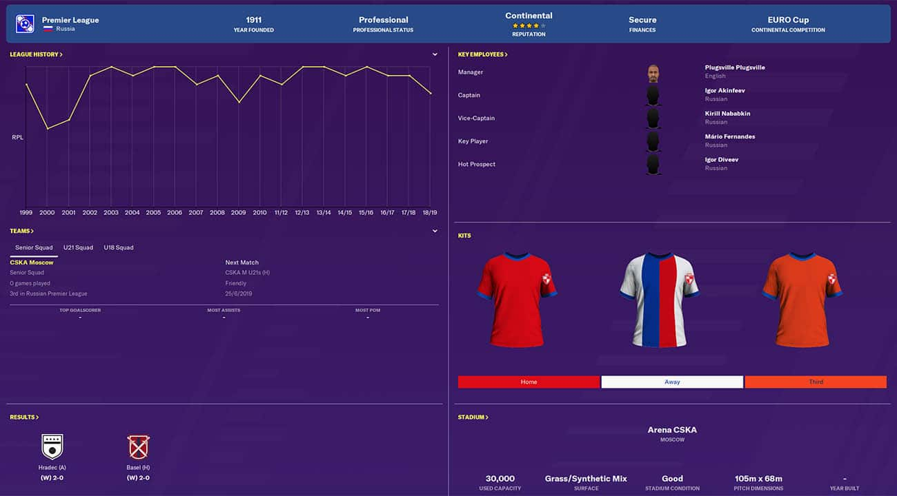 fm20 cska football manager 2020 teams to manage