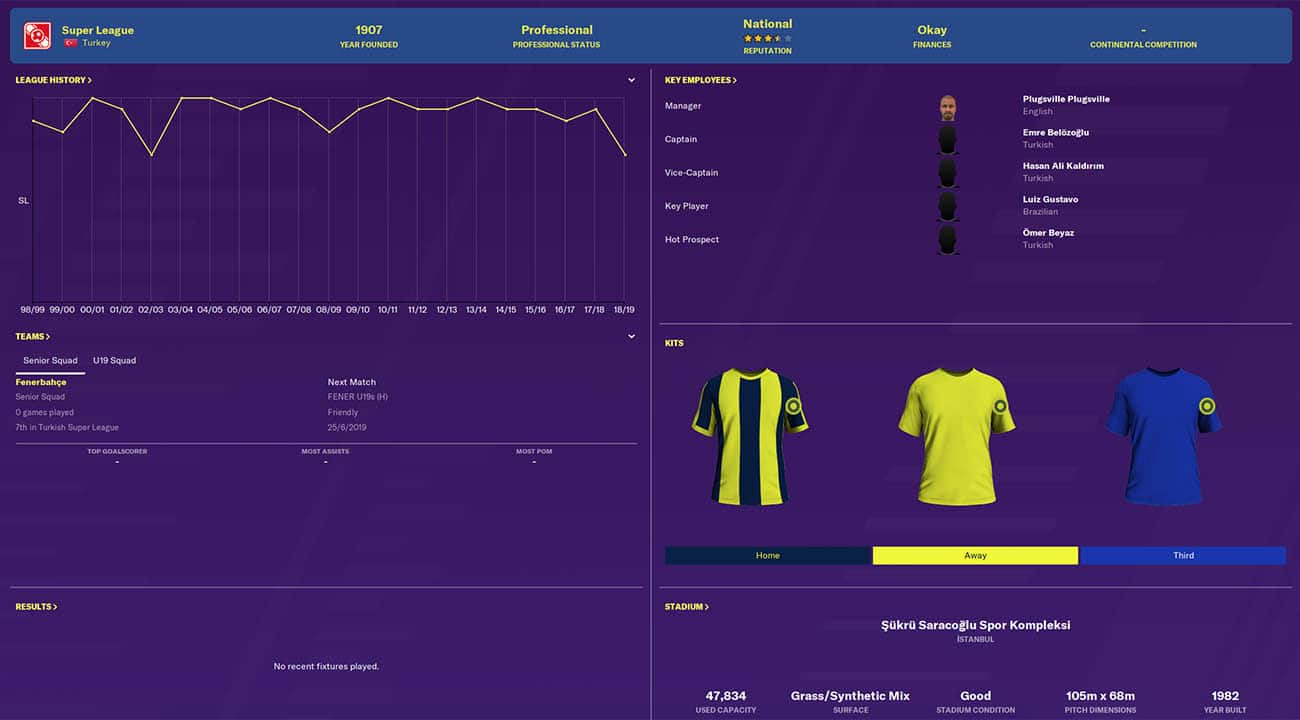 fm20 fenerbahce football manager 2020 teams to manage