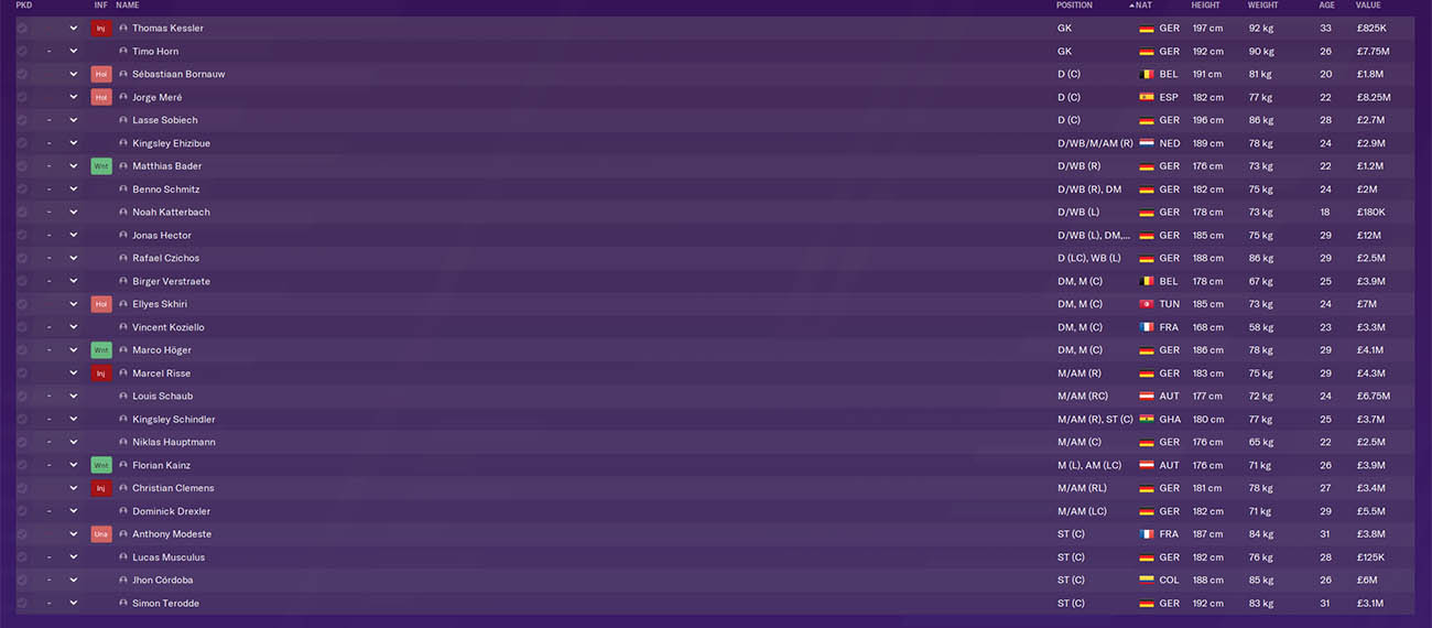 fm20 koln football manager 2020 bundesliga fm20 bundesliga