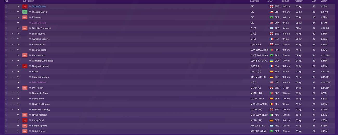 fm20 man city, football manager 2020 premier league