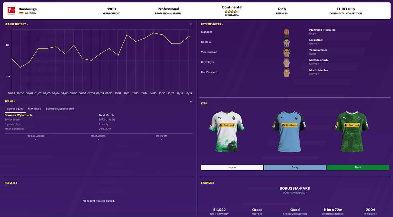 fm20 monchengladbach football manager 2020 teams to manage