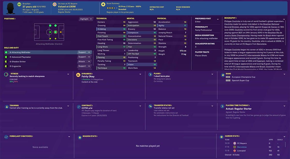fm20 coutinho football manager 2020 barcelona