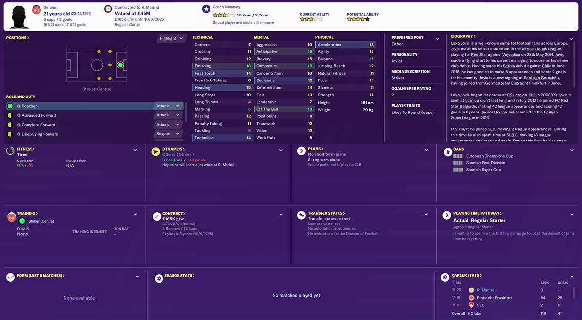 fm20 jovic football manager 2020 real madrid