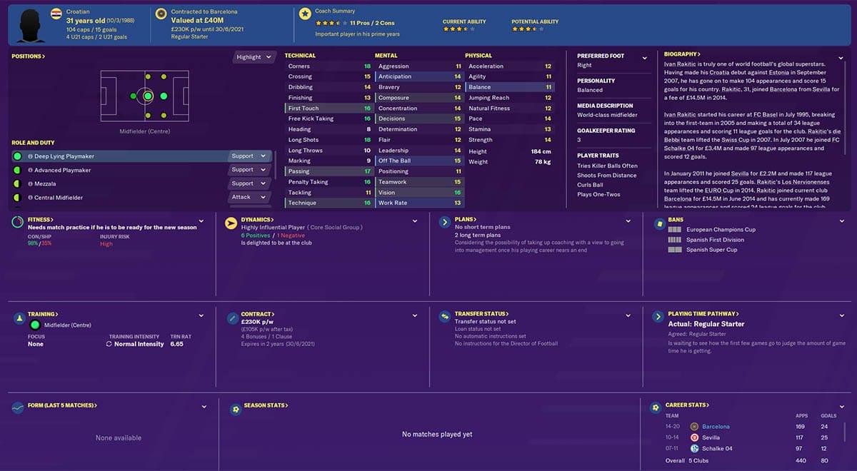 fm20 rakitic football manager 2020 barcelona