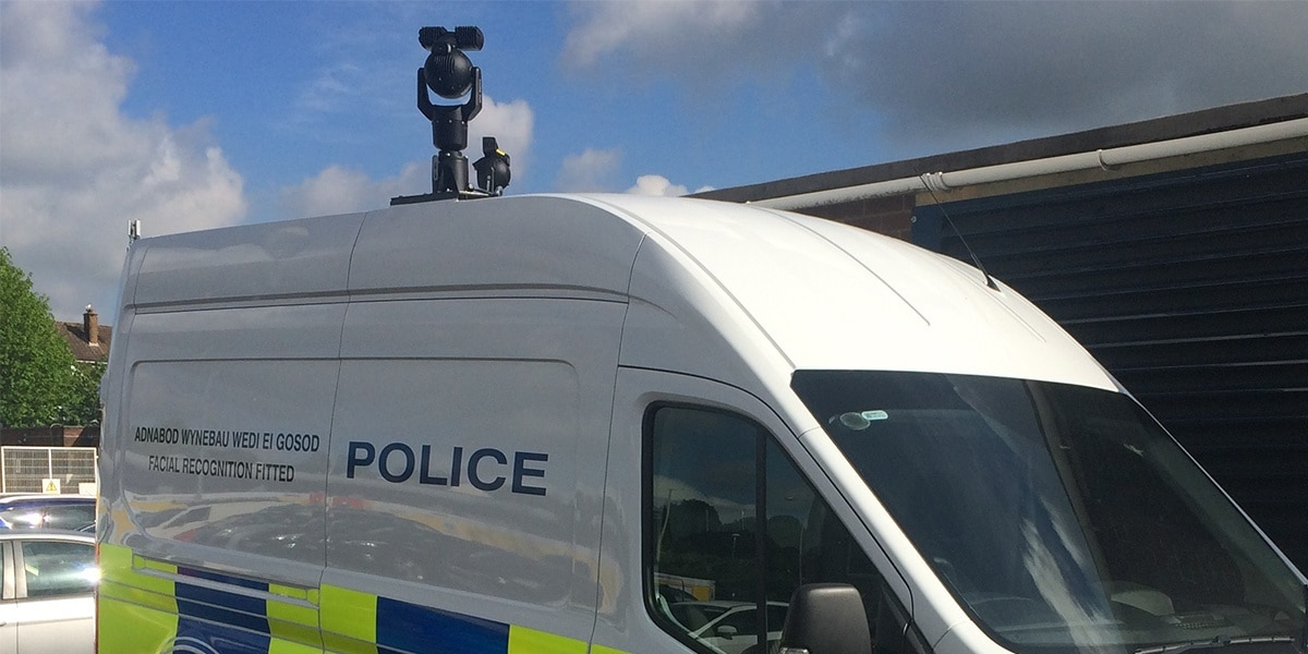 police van with camera