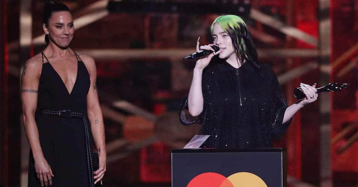 billie eilish brit awards 2020 winners