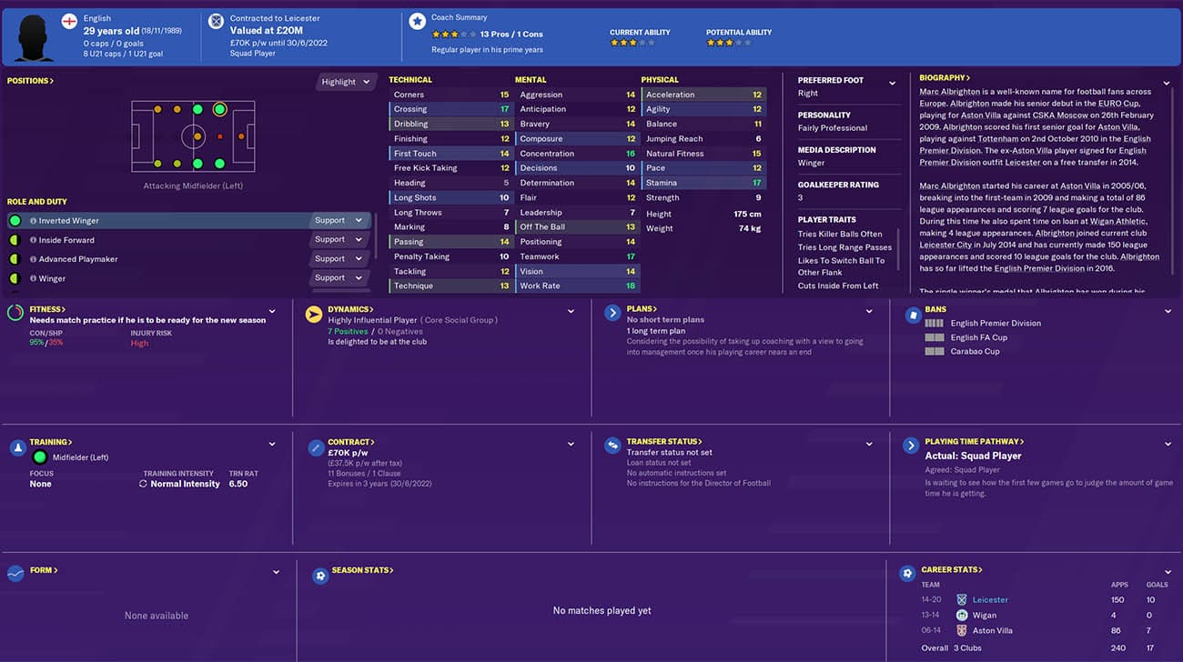 fm20 albrighton football manager 2020 leicester FM20 Leicester