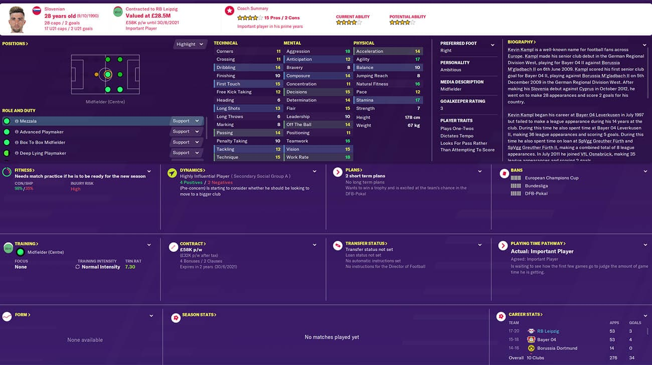 Football Manager 2020 Rb Leipzig Team Guide Best Players Who To Sell