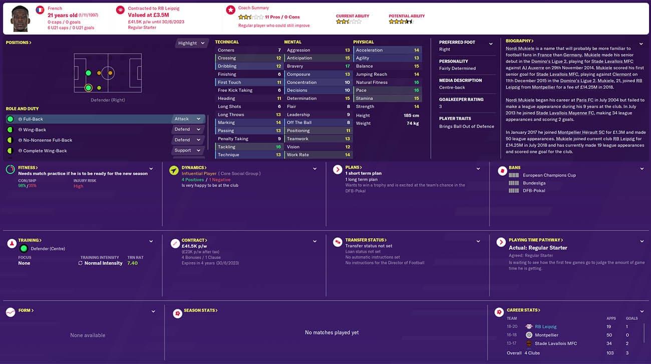 fm20 mukiele football manager 2020 rb leipzig