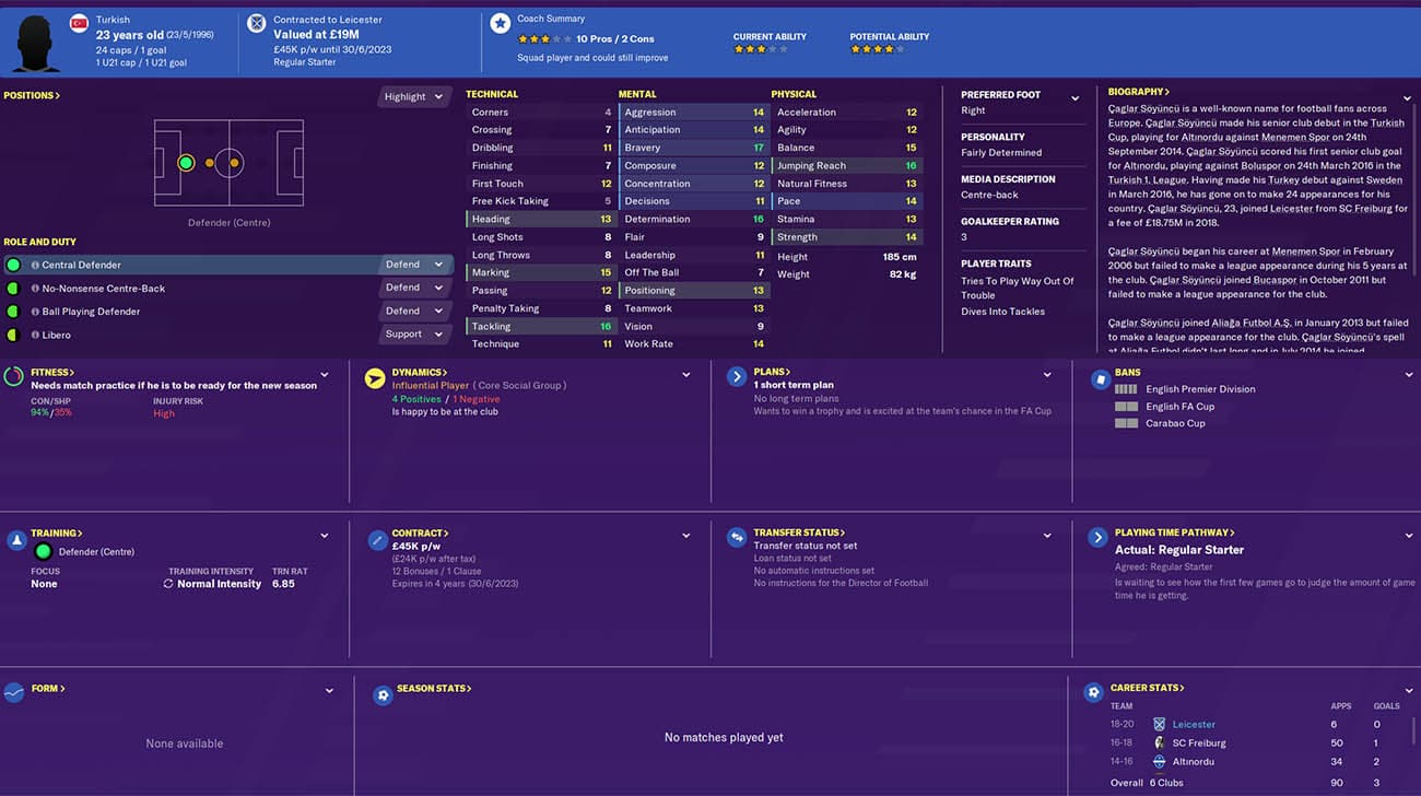 fm20 soyuncu football manager 2020 leicester