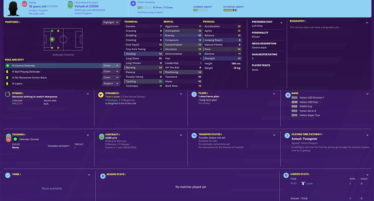fm20 armini football manager 2020 lazio