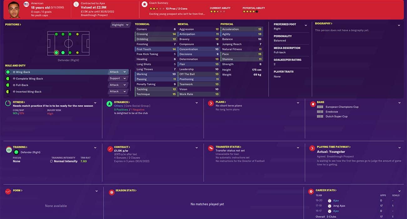 fm20 dest football manager 2020 ajax