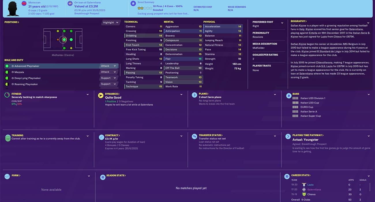 fm20 kiyine football manager 2020 lazio