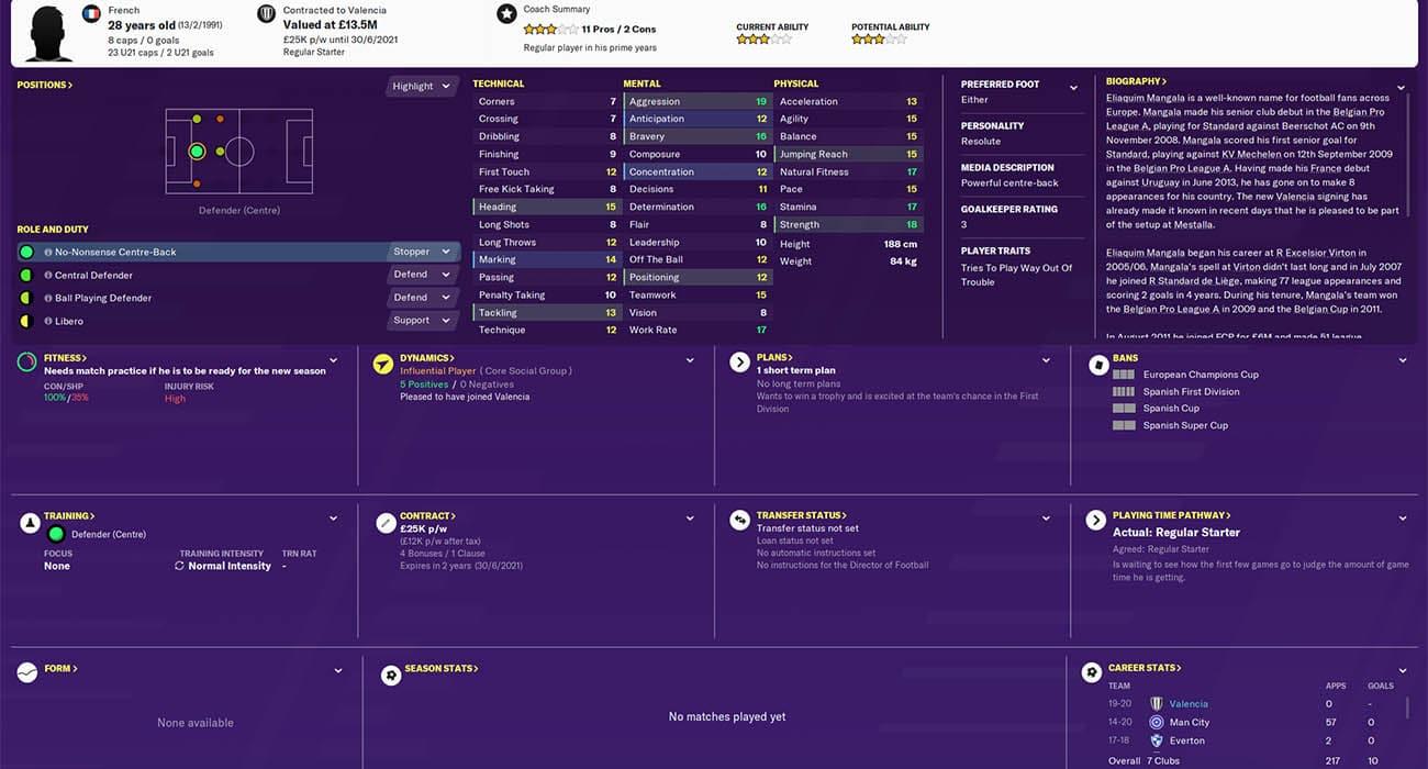 Football Manager 2020 valencia